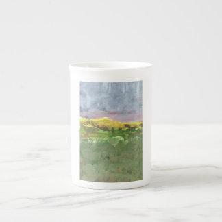 Mountain landscape with purple sky #1 mug