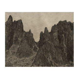 Mountain Landscape Wood Wall Art