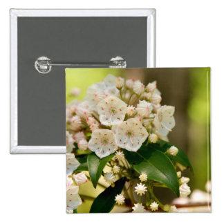 Mountain Laurel in bloom 15 Cm Square Badge