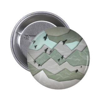 Mountain Layers II 6 Cm Round Badge
