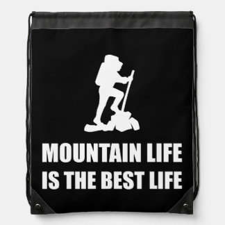 Mountain Life Best Life Drawstring Bag