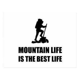 Mountain Life Best Life Postcard