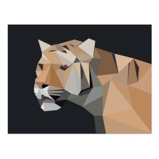 Mountain Lion Abstract Art Postcard