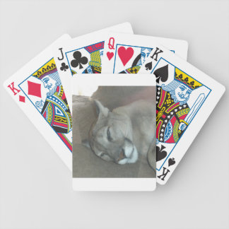 Mountain Lion Bicycle Playing Cards