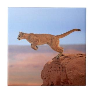 Mountain Lion Ceramic Tile