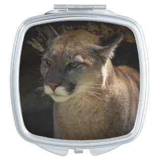 Mountain Lion Cougar Portrait for Big Cat-lovers 3 Makeup Mirrors