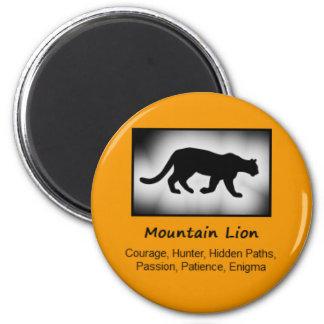 Mountain Lion Cougar Totem Animal Spirit Meaning 6 Cm Round Magnet
