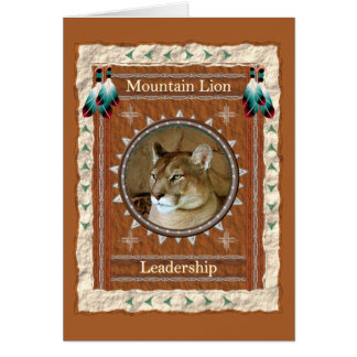 Mountain Lion  -Leadership- Custom Greeting Card