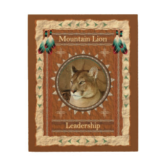 Mountain Lion  -Leadership- Wood Canvas