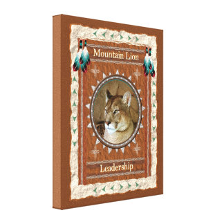 Mountain Lion  -Leadership- Wrapped Canvas