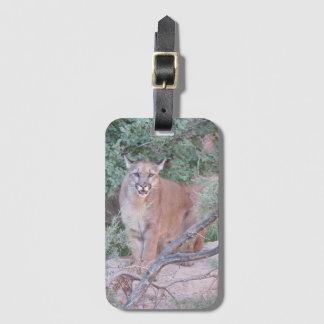 Mountain Lion Luggage Tag