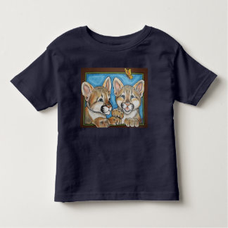 Mountain Lion Puma Cat Cubs Art T Shirt Cute