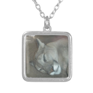 Mountain Lion Silver Plated Necklace