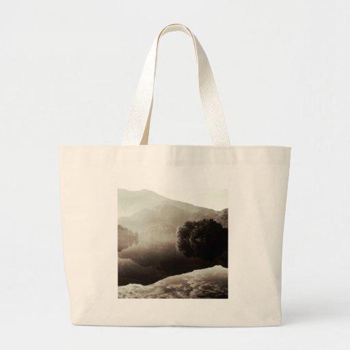 Mountain Loch Katrine Scotland Tote Bags