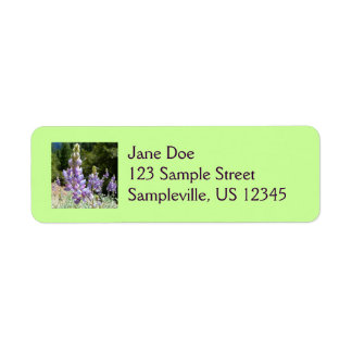 Mountain Lupins at Yosemite Return Address Label