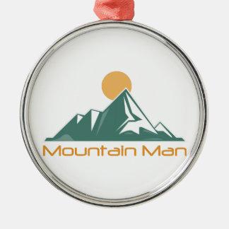Mountain Man Metal Ornament