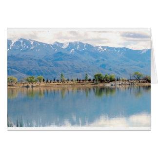 Mountain Mirror Lake Greeting Card