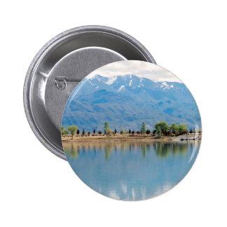 Mountain Mirror Lake Pinback Buttons