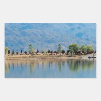 Mountain Mirror Lake Rectangular Sticker