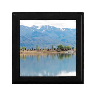 Mountain Mirror Lake Small Square Gift Box