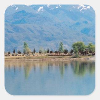 Mountain Mirror Lake Square Sticker