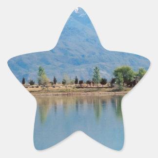 Mountain Mirror Lake Star Sticker