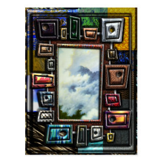 Mountain Mist Framed by Shapes and textures Postcard