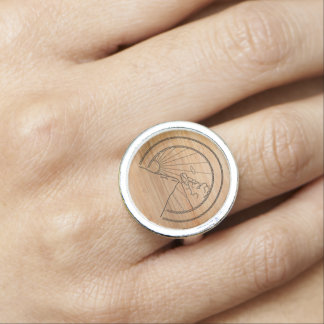 Mountain Mode Wood Ring