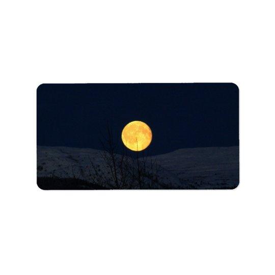 Mountain Moon Address Label