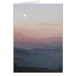Mountain Moon Card