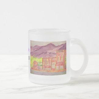 mountain moonshine frosted glass mug