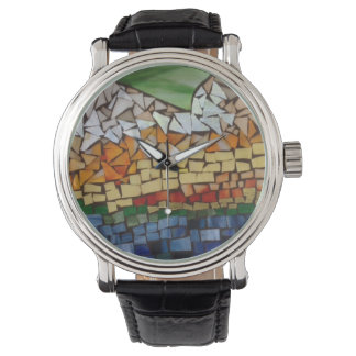 Mountain Mosaic Watch by Willowcatdesigns
