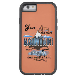 Mountain moving faith I Phone Case Peach