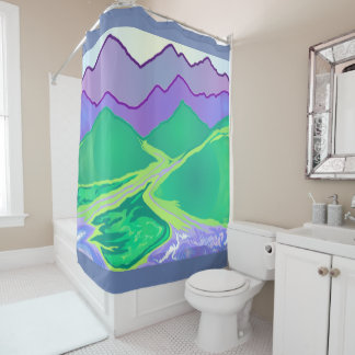 Mountain Murmurs Art Shower Curtain 2