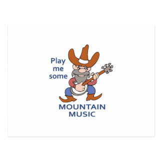 MOUNTAIN MUSIC POSTCARD