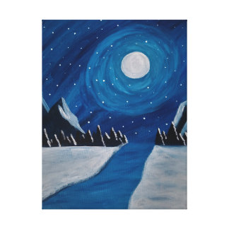 mountain night canvas print