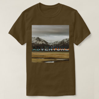Mountain Ocean Adventure Outdoor Photo T-Shirt