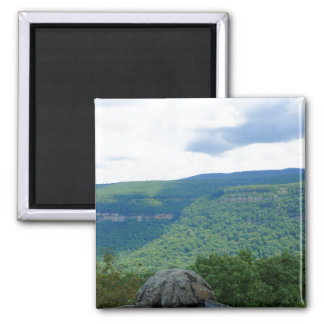 Mountain Overlook Square Magnet