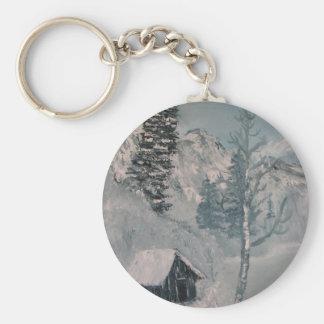 Mountain Painting Key Ring