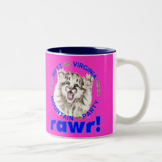 """Mountain Party Spirit Cub -- RAWR"" mug"