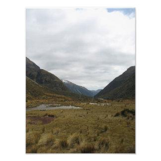 Mountain pass, Transalpine train trip, New Zealand Photo