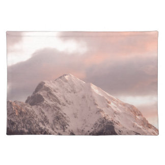 Mountain peak at sunrise placemat