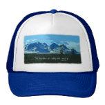 Mountain Peaks digital art - John Muir quote Hats