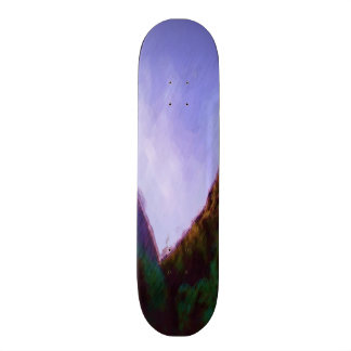 Mountain photo paint skate boards