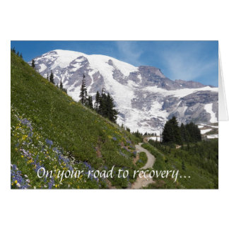 Mountain Photo Road to Recovery Greeting Card