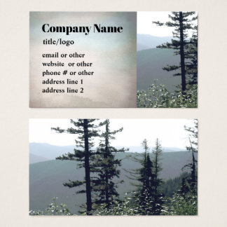 mountain pine trees business cards photo art
