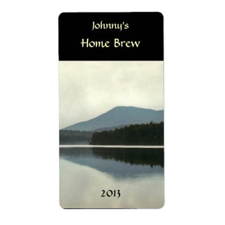 Mountain Pond Beer Label Shipping Label