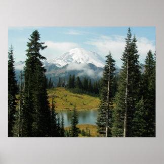 Mountain Portrait Landscape Photo Poster
