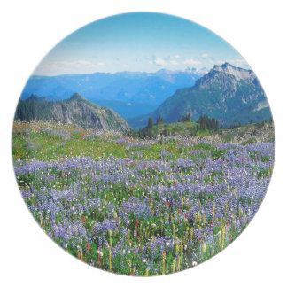 Mountain Purple Heather Haze Dinner Plate