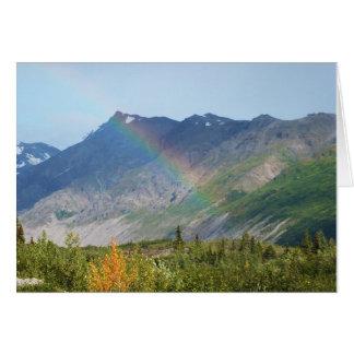 Mountain Raibow Alaska Card
